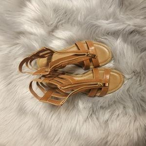 Pretty Tan Merona flat sandals